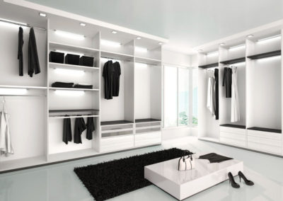 Custom Modern Walking Closet in Brickell